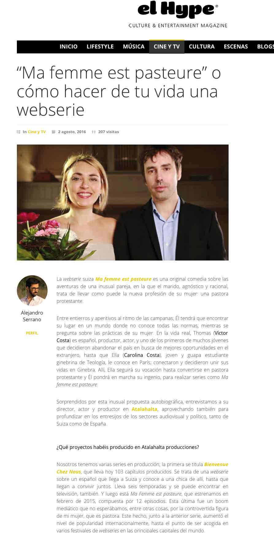 El Hype du 02 août 2016 - Espagne