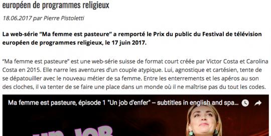 Cath.ch du 18 juin 2017